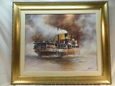 JOHN KELLY - STEAMSHIP- PAINTING-GICLEE ON CANVAS