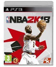 NBA 2K18 PS3 VIDEOGIOCO PLAY STATION 3 ITALIANO PAL GIOCO BASKET SIGILLATO