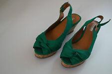Buffalo Sandalen Sandaletten Wedges grün Gr 39 NEU