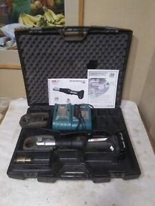 Heat Link Slim-Line Power Press Tool Cordless 11500 Klauke W/ 2 Jaws,2 Batteries