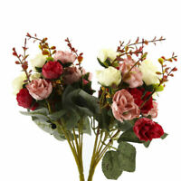 Home 2 Bouquet 42 Head Artifical Rose Silk Flower Bouquet Home Wedding Decor