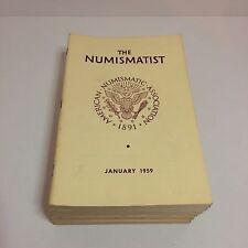 Vintage The Numismatist Books - American Numismatic Association - 1959 COMPLETE