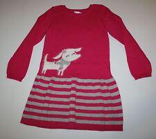 New Gymboree Cozy Pink Puppy Dog Sweater Dress Size 6-12M NWT Snowflake Fun Line