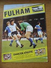 24/01/1981 Charlton Athletic Fulham v [FA Cup] (veces, usado)