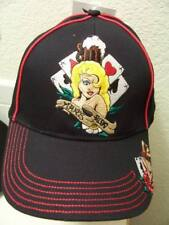 BaseBall Cap Good Luck Gambling & Women Poker Blackjack Man's Ruin Blonde