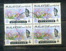 Malaya Malaysia 1965 Orchid Definitive 10c Selangor Block 4