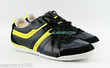 HUGO BOSS ORANGE LABEL KIKKO BLACK LEATHER SHOES SNEAKERS NEW SZ 10 43 EU