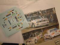 "DECAL CALCA 1/43 BMW M3 ""TELEFUNKEN"" J. BASSAS RALLY VALEO 1987"