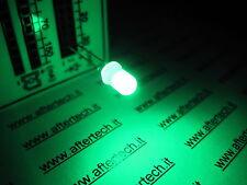 FOGGY 100 DIODI LED LEDS VERDI 5mm VERDE LUCE DIFFUSA DIFFUSED + RESISTENZE