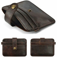 Fashion Wallet Men's Genuine Leather Brown Credit/ID Card Holder Slim Purse Gift
