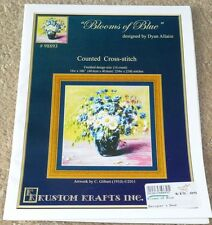 Kustom Krafts counted cross stitch chart BLOOMS OF BLUE