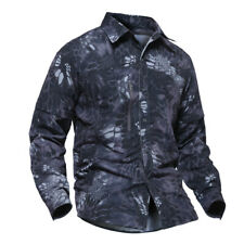 Military Mens Combat Shirt Army Long Sleeve Tactical Casual Shirts Camouflage