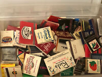 HUGE VINTAGE LOT OF 100+ MATCHBOOK COVERS NEW AND USED MIXED HOUSTON-VEGAS-CALI.