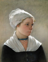 """perfect 24x36 oil painting handpainted on canvas"""" a girl""""@N12838"""