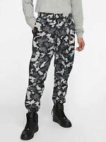 Nike Sportswear Woven Camo Track Pants Black Gray Woodland Medium