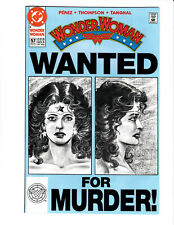 "Wonder Woman #57 DC 1991 NM 9.4 George Perez ""Wanted"" cover."