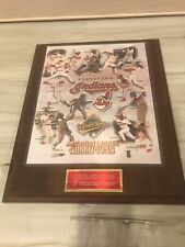 Cleveland Indians 1997 World Series American League Champions Wood Plaque