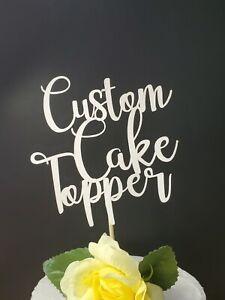 Custom Cake Topper  Adorno de Pastel  Quinceañera Cumpleaños  Made For You