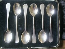 Silver teaspoons by Thomas Levesley Brothers Sheffield Set of 6 boxed