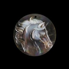 Carved Horse MOP Pearl BEAD GL007000