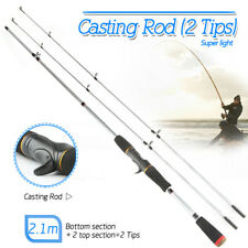 1.8M/2.1M Carbon Fishing Rod Spinning Casting Lure Rod Saltwater Freshwater Pole