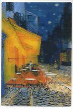3-D Cafe Terrace at Night Vincent Van Gogh New 3D Lenticular Postcard