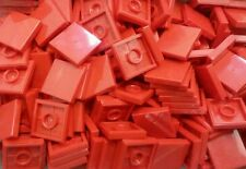 *NEW* Lego Bulk Red 2x2 Flat Tiles Plates House Floors Buildings - 25 pieces