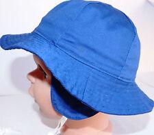 KU 46 47 48 49 50 51 52 Ohren Schutz Sonnen Hut Sommer Kind Junge Mädchen blau