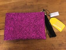 LISA BEA Sparkle Large Pink Pouch Clutch RRP £65