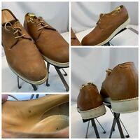 Giorgio Armani Oxford Lace Shoes Sz 8 Men Brown Leather Italy GUC YGI F0s-170