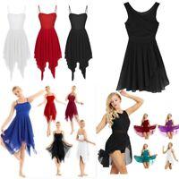 Women Adult Chiffon Dance Costumes Modern Contemporary Ballroom Dress Dance