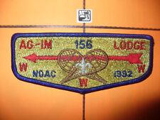 OA Ag Im Lodge 156,S-13, 1992 NOAC Flap,Hiawathaland Cncl,61,635 Kon Wapos,MI,WI