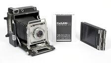 Graflex Crown Graphic 4X5 Camera w/Schneider 127mm Lens + Holders + FRESH FILM