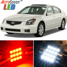 15 x Premium Red LED Lights Interior Package Kit for Nissan Maxima 2004-2008