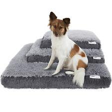 Dog & Cat Pet Bed Bolster Foam Deluxe Bedding Cuddler Fluffy Pillow- Med Gray