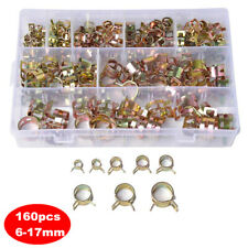 160PCS Vacuum Fuel Hose Pinch Spring Clip Clamp Kit Clamps Clips Assortment Kit