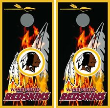 Washington Redskins flames 0148 cornhole board vinyl wraps stickers posters