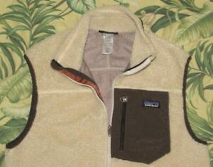 2012 PATAGONIA Ivory Deep Pile Retro X Fleece Vest Medium M