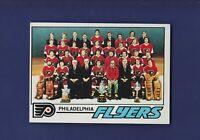 Philadelphia Flyers Team Checklist **Unmarked** 1977-78 TOPPS Hockey #83 (NM)