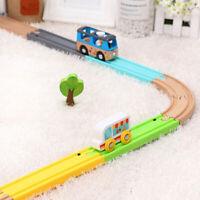 Wooden Train Track Trains Toy Simulation Train Sound Track Accessories Rail li