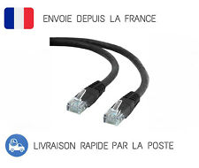 1Gbps Cat5e 1M Ethernet Cable Lan Network RJ45 Cable Cord PC Laptop Black