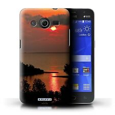 Phone Case for Samsung Galaxy Core and Grand Smartphone/Sunset Scenery/Cover