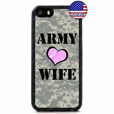 Army Wife Love Camo Military Rubber Case Cover For iPhone Xs Max XR X 8 7 6 Plus
