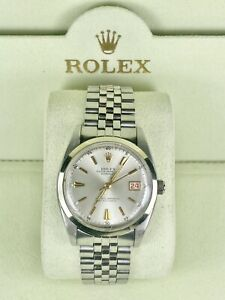 Vintage Rolex Datejust Unisex 36mm Watch Stainless Steel Reference 6305