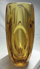 """SKLO UNION """"lente"""" Vaso di Rudolf schrotter, rosice VETRERIA, Cecoslovacchia."""