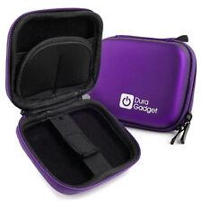 Purple Hard EVA Case w/ Carabiner Clip & Twin Zips for Rollei 415 / 425