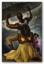 Behind Every Great Man Kevin A. Williams WAK African American Art Print 36x24