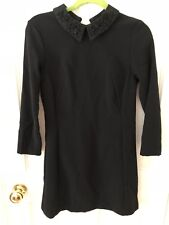 Topshop Black Sequin Collar Dress, Size 10, BNWT