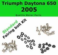 Fairing Bolt Kit body screws fastener for Triumph Daytona 650 2005 Stainles