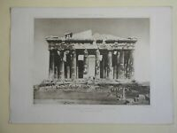 Classical Architecture The Parthenon Ruins lovely 1890s large print Lemercier